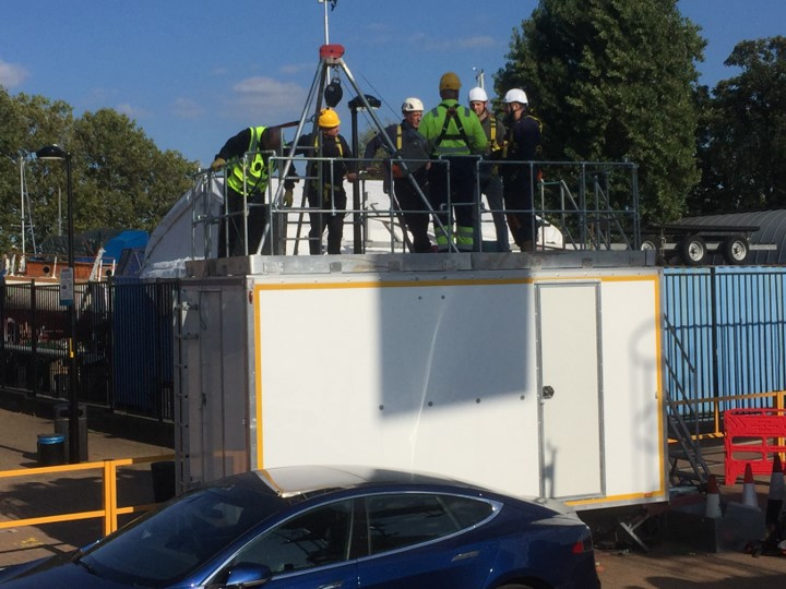 Confined spaces training London Dockyard