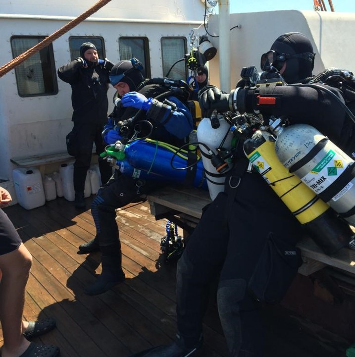 Diving expedition Baltic sea