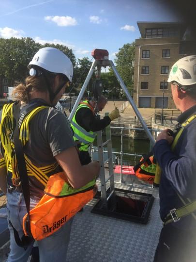 Medium risk entry training London dockyard
