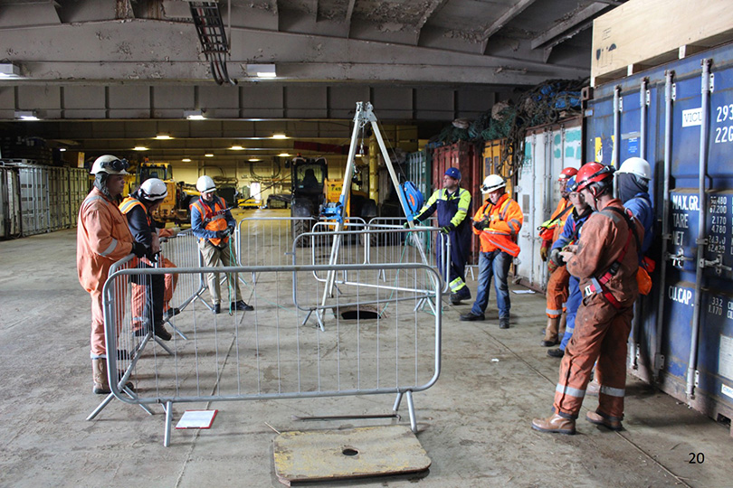 On-site Confined spaces training in remote locations